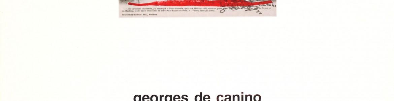 Georges De Canino. Poesia e immagine